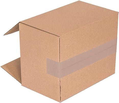 KARTOX | Cajas de Cartón | Canal Simple Reforzado | Caja almacenaje | Dimensiones: 35 x 22 x 20 | Caja con solapa | Pack 25 unidades: Amazon.es: Oficina y papelería