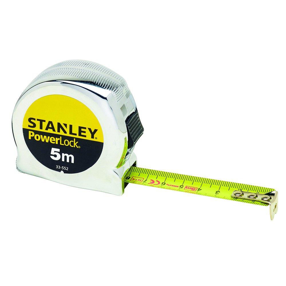 Stanley 033552 Micro Powerlock Mètre à ruban 5 m (Import Grande Bretagne) 0-33-552