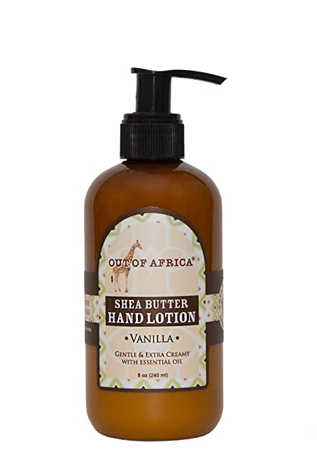 Out of Africa Hand Lotion, Vanilla, 8 Ounce