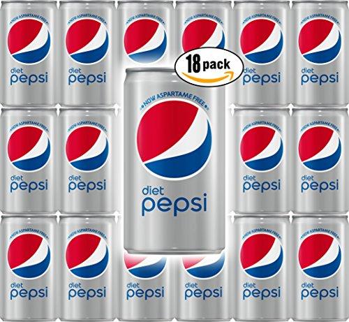 (Diet Pepsi Cola, 7.5 Fl Oz Mini Can (Pack of 18, Total of 135 Oz))