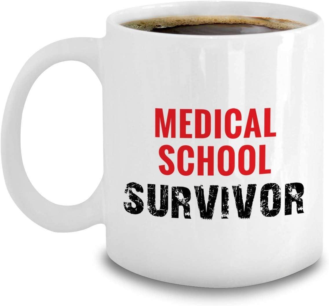 Thorea Doctor Gifts - Taza de café para sobrevivientes de la Escuela de Medicina - Regalos de graduación de mordaza para futuros médicos