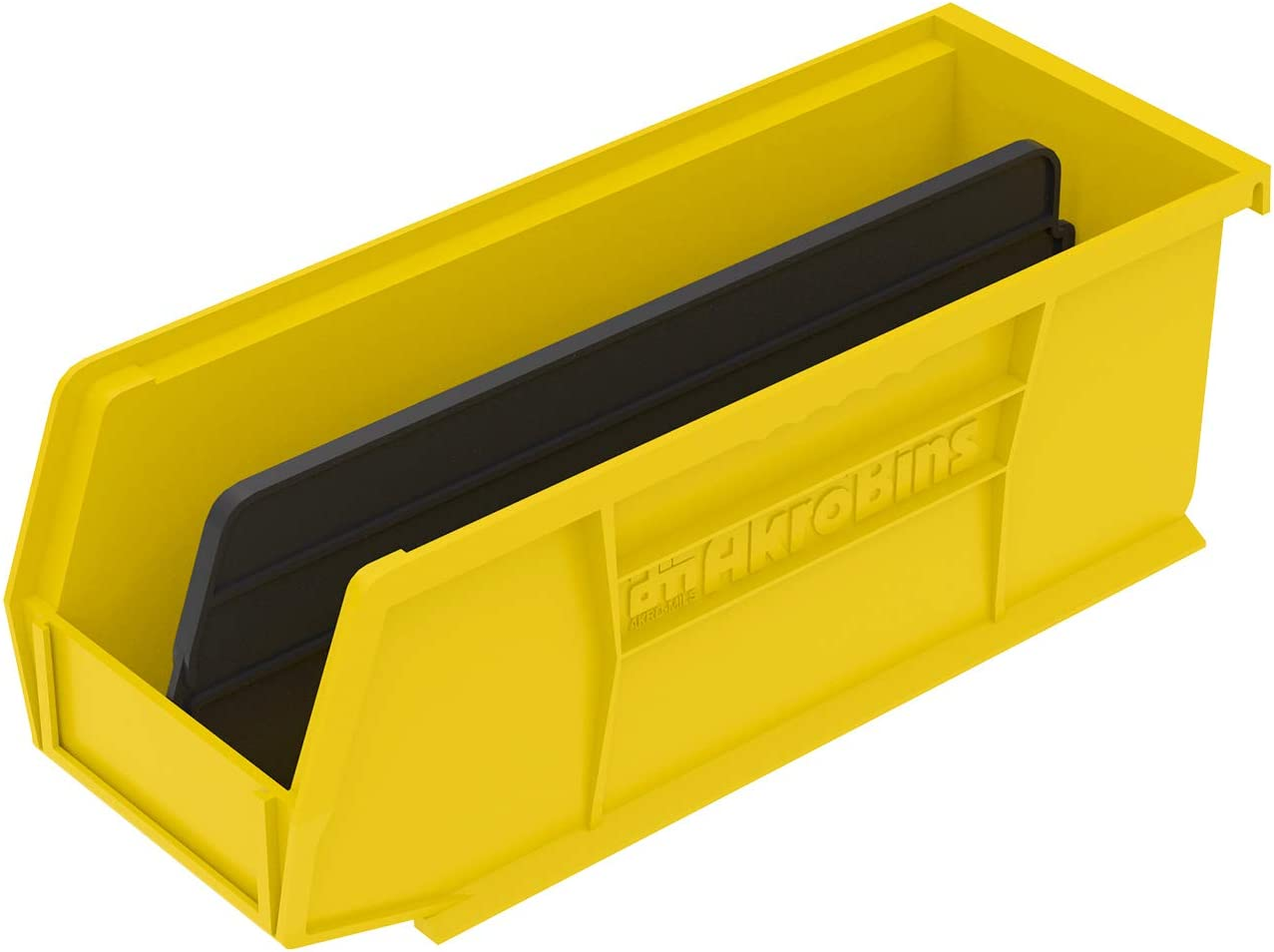 Akro-Mils 30224 Plastic Storage Stacking AkroBin, 11-Inch by 4-Inch by 4-Inch, Clear, Case of 12 Yellow
