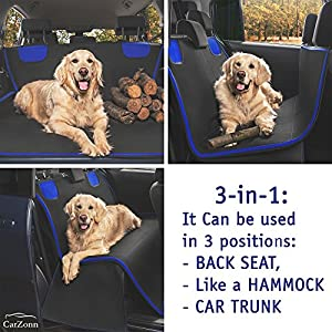 Dog Seat Cover – Pet Seat Cover - Dog Car Seat Cover – Waterproof, Scratchproof Seat Cover for Spotless Car – Premium Seat Hammock for Small and Large Dogs – Cars, Trucks SUVs by CarZonn