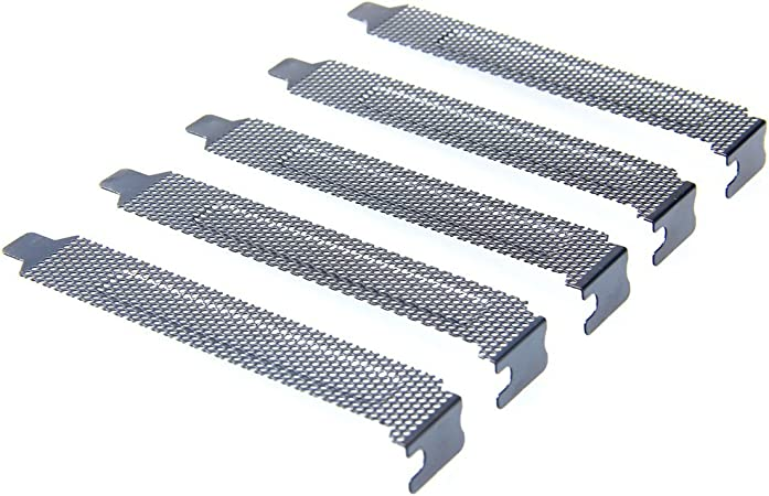 Scr/_CH 5PC PCI Bracket Slot Cover Dust Filter Black Steel Blank Blanking Plate