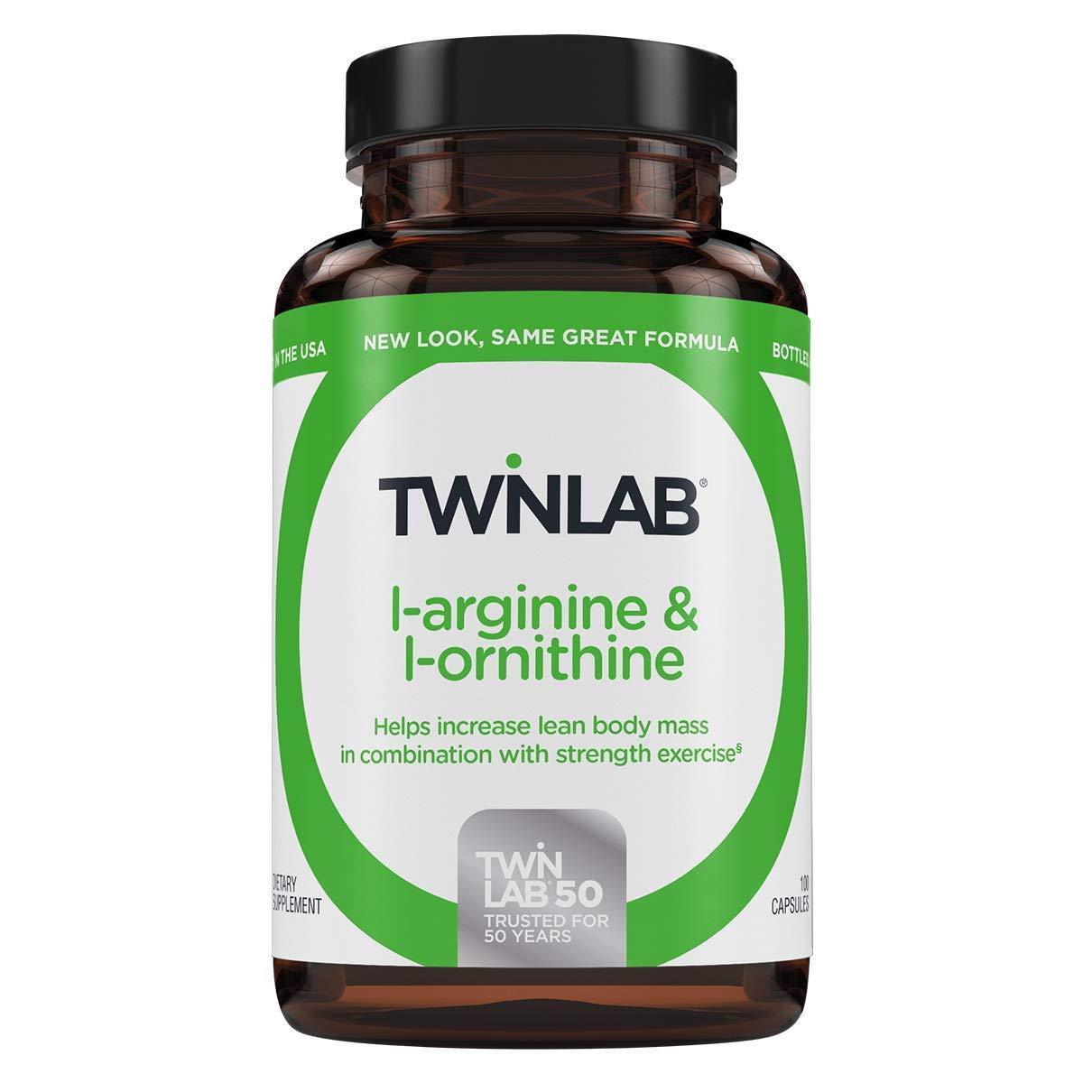 Twinlab L Arginine and L-Ornithine (100 Capsules) by Twinlab