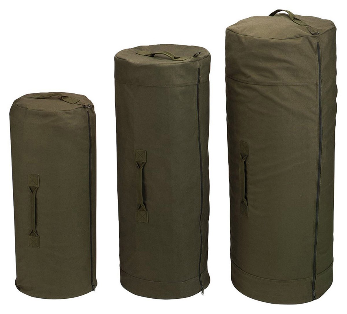 Rothco Canvas Zipper Duffle Bag 613902347809