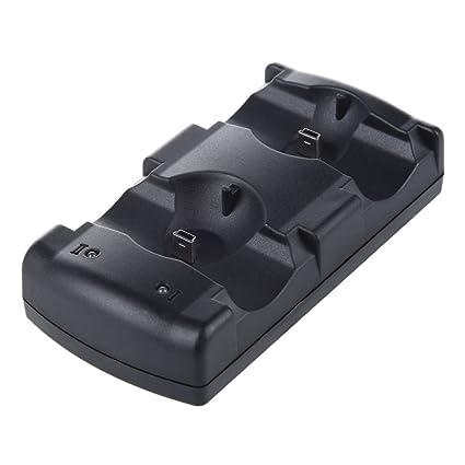SODIAL(R) Cargador 2en1 USB Charge Double Deck para controlador ...