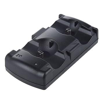 SODIAL(R) Cargador 2en1 USB Charge Double Deck para controlador inalambrico de PS3 Dual Shock MOVER