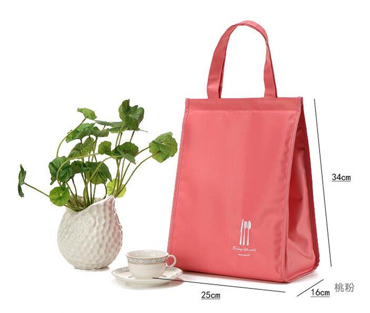 Ihclink impermeabile lunch bag/ Blue per donne e uomini Girls adulti /Insulated reusable lunch Tote organizer bag//grande capacit/à lunch box pieghevole pranzo termica