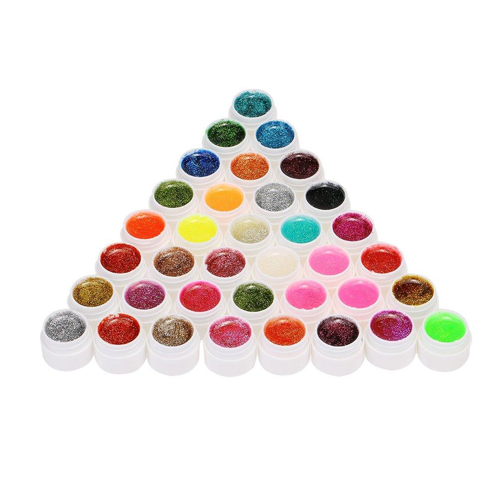 Anself Kit de 36 vernis à ongles brillants de couleurs différentes