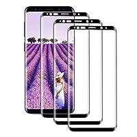 AYUBMR [3-Pièces Verre Trempé pour Samsung Galaxy S9 Plus, Protection Écran Couverture Complète [Dureté 9H] Film Protection pour Samsung Galaxy S9 Plus【Noir】