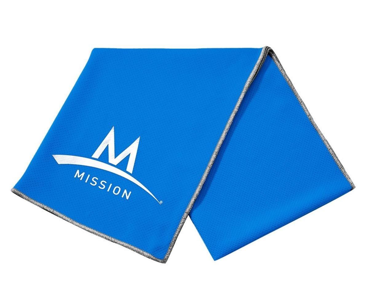 Mission Enduracool Techknit Cooling Towel, Black Space Dye, Large