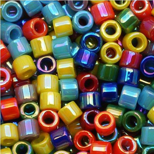 Miyuki Delica Seed Beads Mix 10/0 Opaque Rainbow AB 8 Grams - Delica Bead Loom