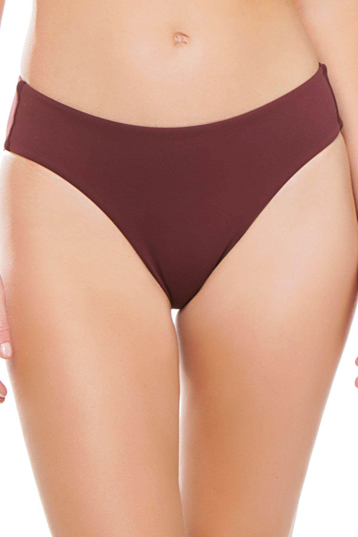 Skin Women's The Varona Hipster Bottom Burgundy S