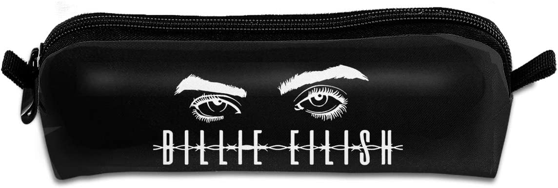 Billie Eilish Pencil Pouch Makeup Bag Holder Stationery Organizer Case with Zipper for School /& Office