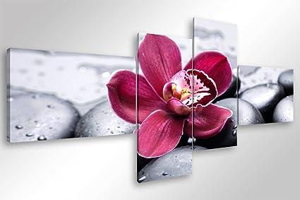 Degona quadro moderno orchid zen cm stampa su tela canvas