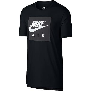 3f82569d Nike Air Large Logo Crew Neck Men's Sportswear T-Shirt Black/White 892313-