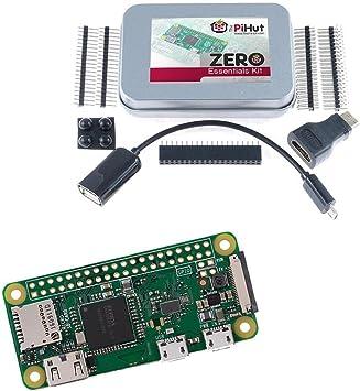 The PiHut Zero Essentials Kit - Kit para Raspberry Pi Zero W (Wifi ...