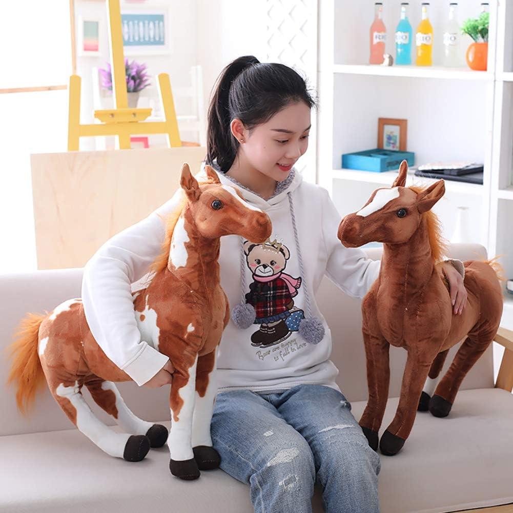 DNelo Juguetes de Peluche Lindo 3D simulación Caballo Animal Peluche muñeca Peluche niños Sala de Juguetes decoración Foto Props-4 # 50CM