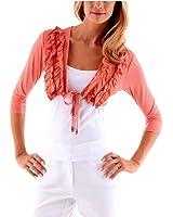 Vivance collection t-shirt boléro corail/rouge taille 34–44 554712/c.1