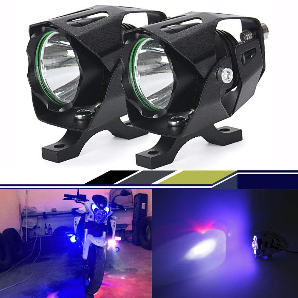Quaanti New Arrival 2x15W CREEchips XML T6 LED Spotlight Motorcycle Driving Fog Lamp Spot Head Light Lamp (Black)