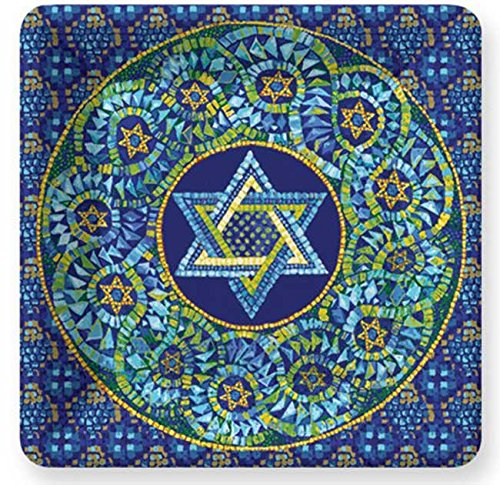 Draw DESIGN Mosaic Star of David Dessert Square Paper Plates