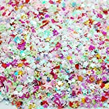 Colorful Manicure Glitter Confetti 1.8oz/50g Mixed Shapes Size 3mm Great for Party Décor, DIY Crafts, Premium Nail Art Etc..