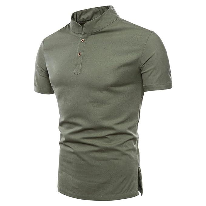 dc7d12f33d Naturazy-Camiseta Color Puro Camisas Talla Extra Polo Ropa para Verano  Regalos para Marido Camisas
