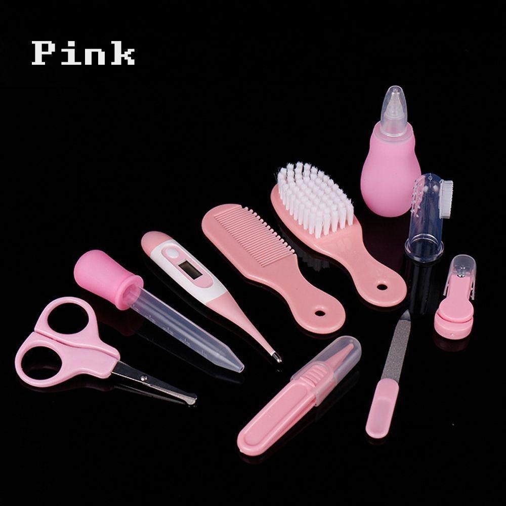 Aiweikang 10PCs/Set New Newborn Product Thermometer Health Care Baby Grooming Kit Hair Brush Nail Clipper Nursing
