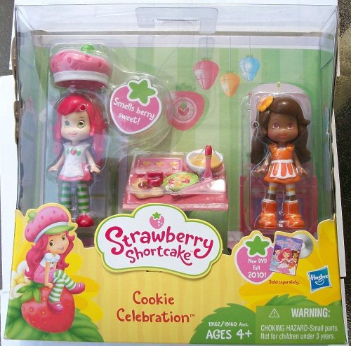 (Strawberry Shortcake Mini Figure Two Pack Cookie Celebration Strawberry Shortcake Orange Blossom)