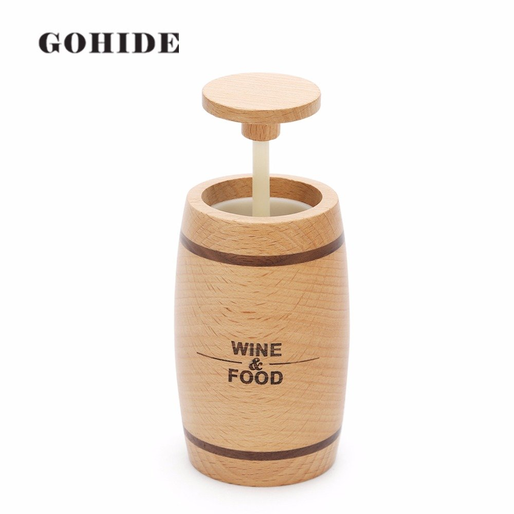 Gohide 1PC Fashion Creative Design Mini Beer Bucket Shape toothpick dispenser Automatic toothpick holder portable telescopic toothpick box for home and restaurant using, Diameter: 6.0cm, Height: 9.7cm by GOHIDE
