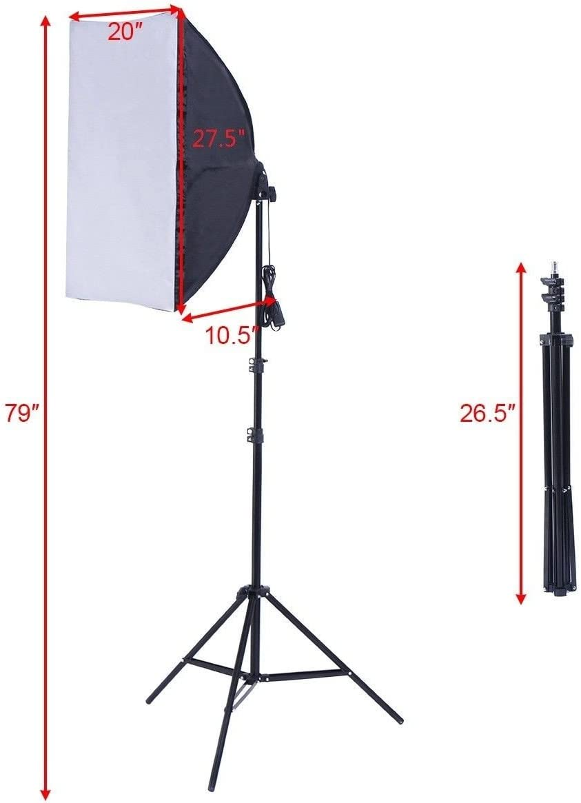 Compact and Functional 2 x 85W Continuous Bulb Light Softbox Photography Lighting Kit Perfect for Taking Pictures Selling Online Advertising Products Catalog