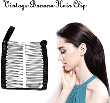 Womens Vintage Banana Hair Clip Christmas Hairpin Accessorie Stretchable Combs