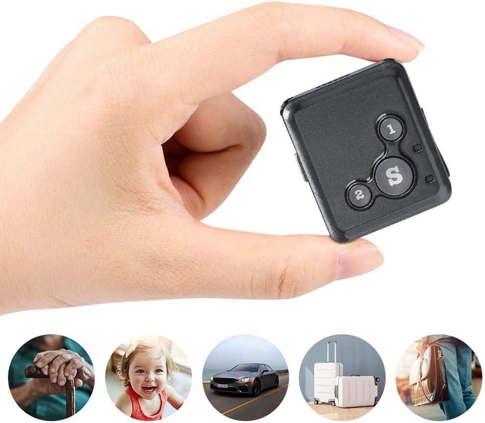 KADDGN Mini perseguidor del GPS de los niños niño Personal localizador GPS RF-V16 7 días en Espera SOS Control de Voz Gratuito App Real Time Tracker niños