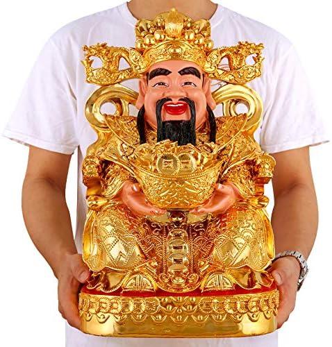 EBERMA 开光金财神招财进宝财神爷佛像摆件文财神风水神像佛龛套装工艺品