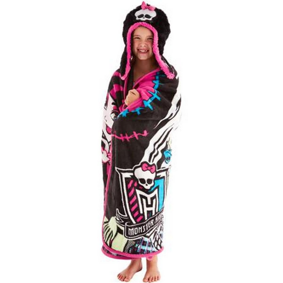 High Monster Throw Blanket Wrap and Cozy Hat Set
