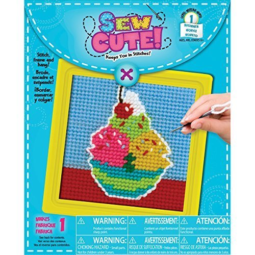 Brand New Sew Cute! Needlepoint Kit-6''''X6'''' Stitched In Yarn Brand New by M1N4B5