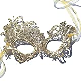 Gorgeous Gold Renaissance Lace Masquerade Mask by Samantha Peach