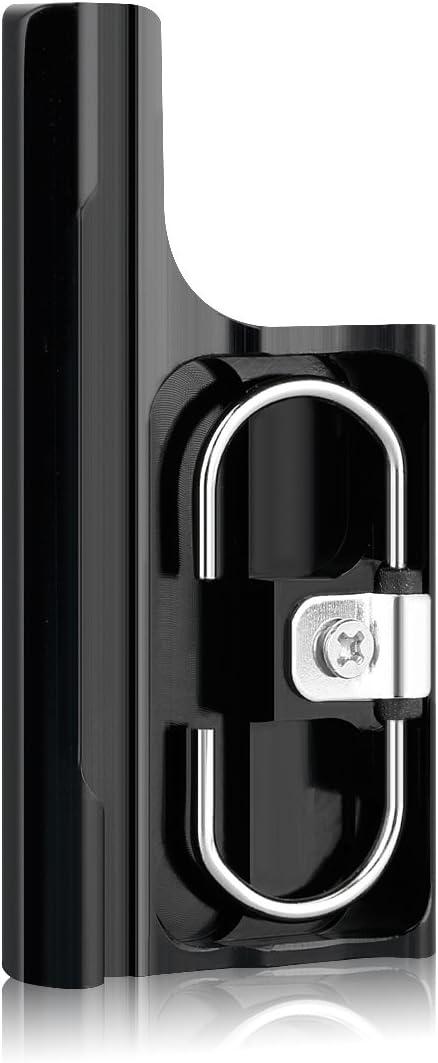 Sametop Aluminum Replacement Latch Rear Snap Lock Buckle Compatible with Gopro Hero 4 Hero 3+ Cameras Standard Waterproof Skeleton Housing (Black)