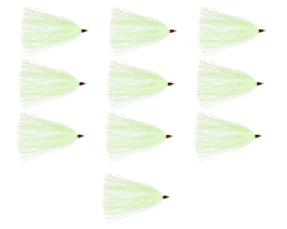 Last Cast Tackle Bucktail Teaser - 10 Pack (Green) by Last Cast Tackle