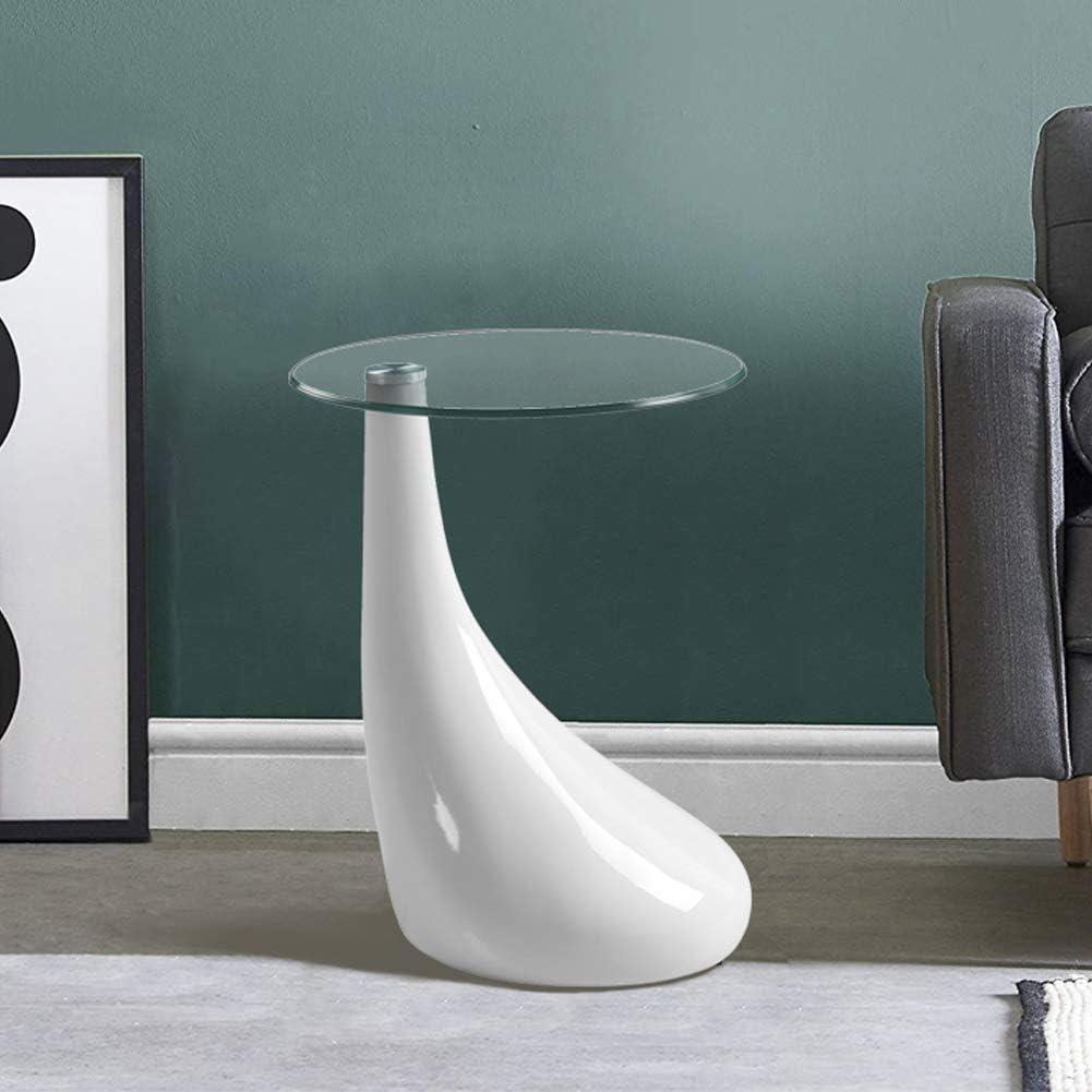 44*38*52cm GOLDFAN Moderno Tavolino Basso da Salotto Bianco Tavolino da Divano Tavolino da Caff/è Comodino con 3 Ripiani