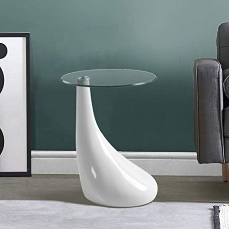 GOLDFAN Moderne Haute Brillance Petite Table Basse Salon