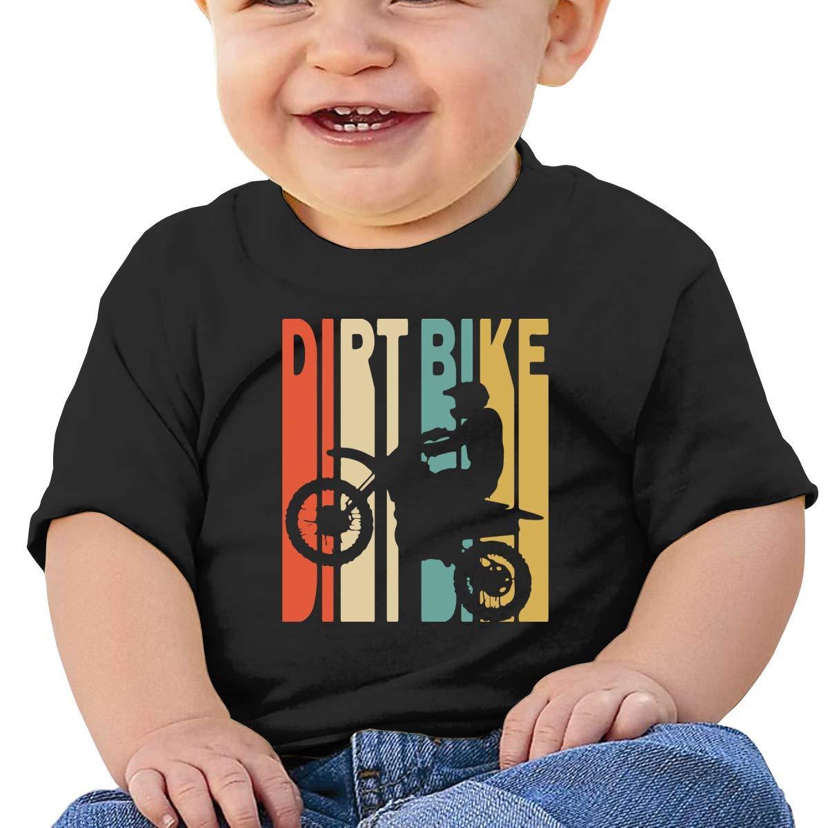 STARKLY Retro Style Dirt Bike Baby Boy Girl Newborn Short Sleeve Tee Shirt 6-24 Month 5 Tops
