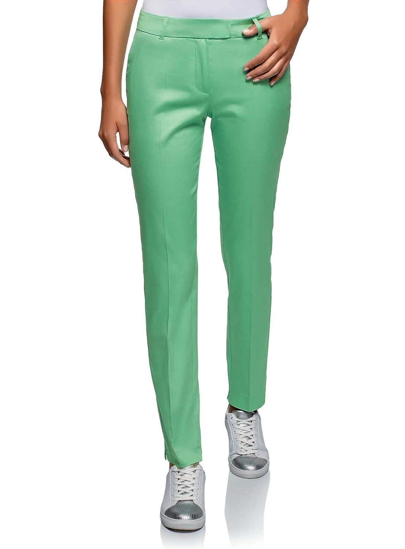 oodji Collection Women's Stretch Cotton Trousers RIFICZECH s.r.o. 21704159-1B