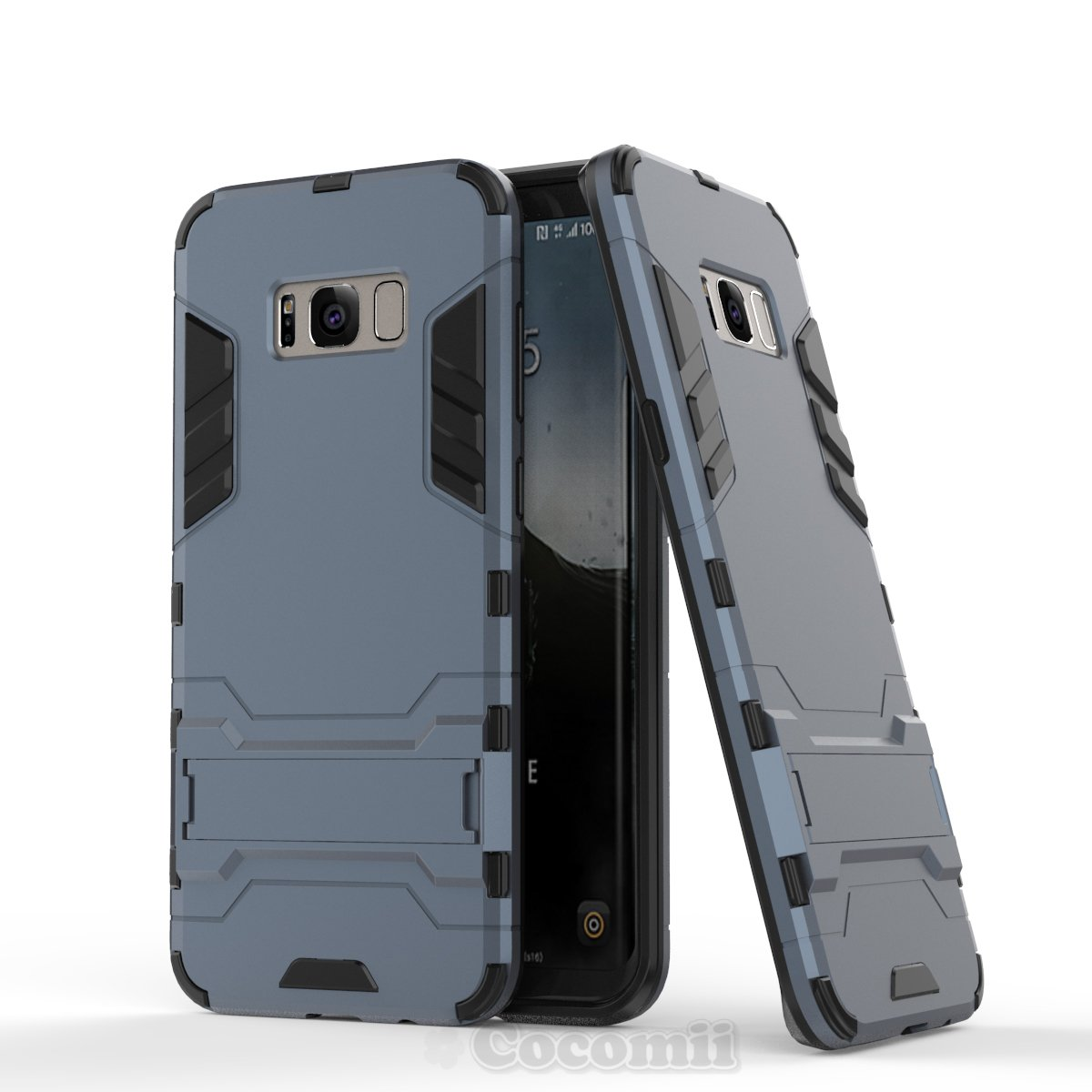 Cocomii Robot Armor Galaxy S8+ Plus Case NEW [Heavy Duty] Premium Belt Clip Holster Kickstand Shockproof Hard Bumper Shell [Military Defender] Full Body Dual Layer Rugged Cover for Samsung Galaxy S8+ Plus (R.Black) ROBOT-GALAXY-S8+-PLUS-BLACK