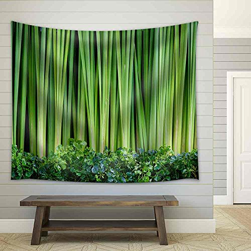 Green Leaves Wall Background Fabric Wall Tapestry