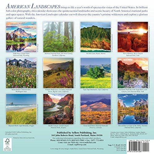 American Landscapes 2016 Wall Calendar