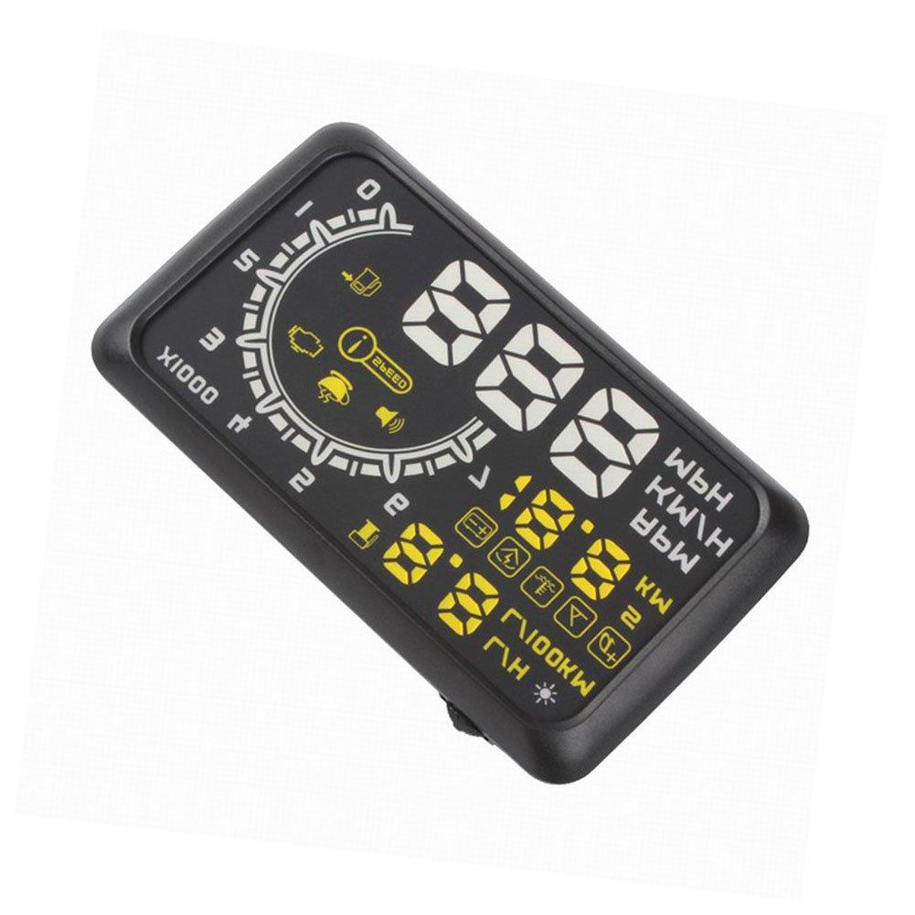 Auto universel affichage t/ête haute V/éhicule de HUD ou OBD2 Projecteur Voiture Affichage T/ête Haute Alerte