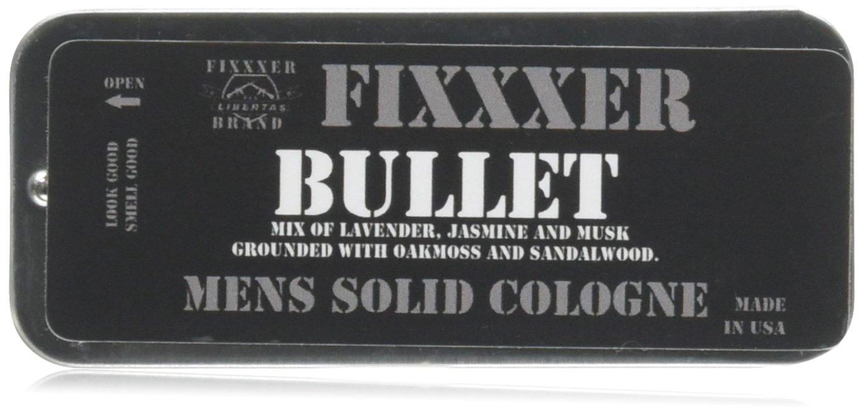 "Natural Men's Solid Cologne ""BULLET"" (18g) metal tin, Fixxxer Brand"