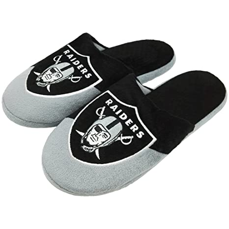 f08edbfcbba Amazon.com   FC NFL Men s Colorblock Slide Slippers - Choose Your ...